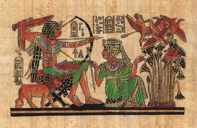 Egyptian-Papyrus-Painting-King-Tut-Hunting-7X9-034-Hand-Painted-Description-32