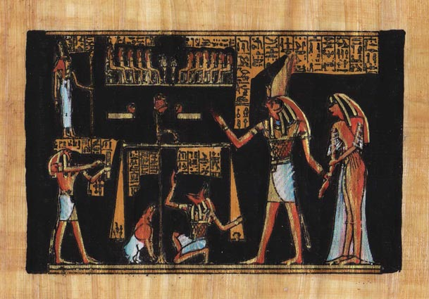 Egyptian-Papyrus-Painting-The-Judgment-7X9-034-Hand-Painted-Description-78