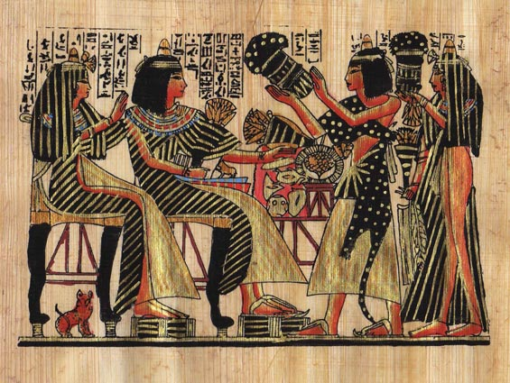 Hand Painted Egyptian Papyrus Paintings