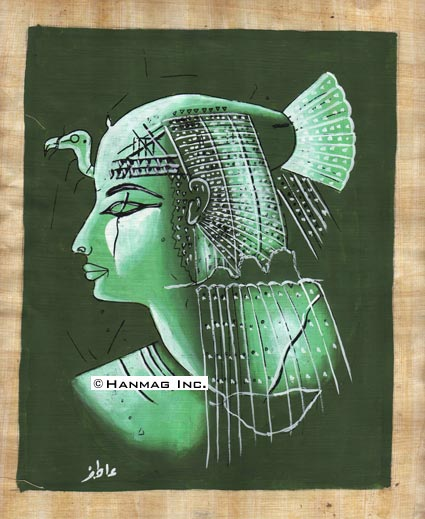 Egyptian-Papyrus-Painting-Queen-Nefertari-8X12-034-Hand-Painted-24